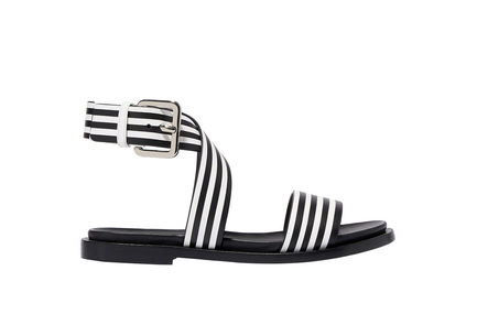 Striped Leather Sandals Sportmax