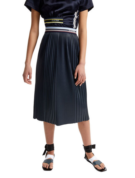 Pleated Faux Leather Skirt Sportmax