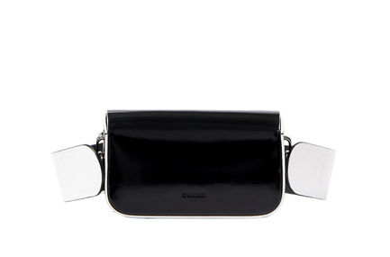 Semi-patent Black Crossbody Mini Bag