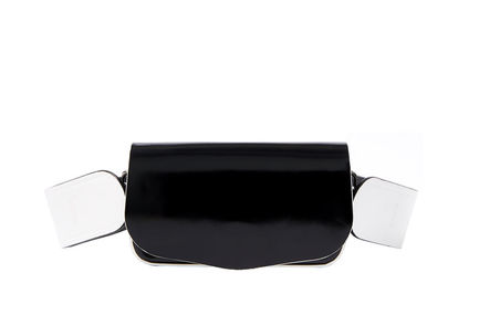 Semi-patent Black Crossbody Mini Bag Sportmax