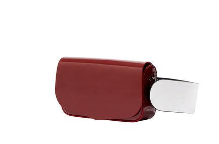 Semi-patent Red Crossbody Mini Bag