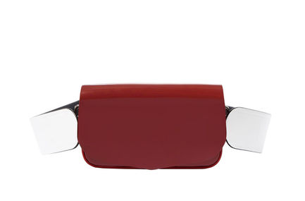 Semi-patent Red Crossbody Mini Bag Sportmax