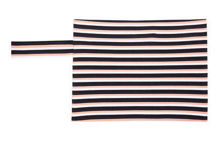 Graphic Striped Knit Clutch