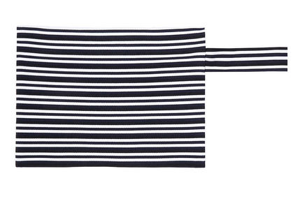 Graphic Striped Knit Clutch