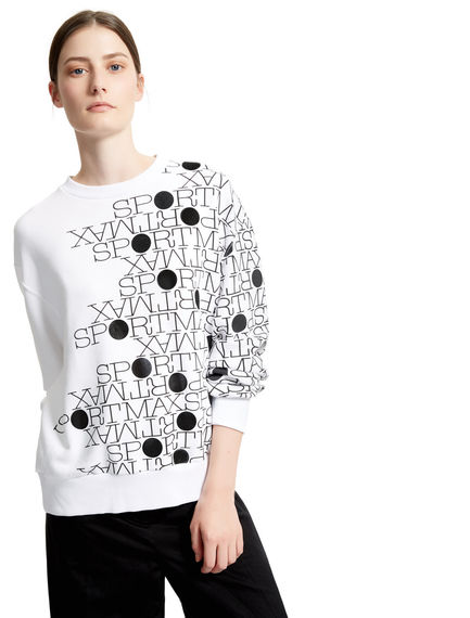 Graphic Cotton Sweatshirt Sportmax