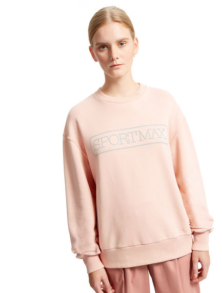 Logo Cotton Sweatshirt Sportmax