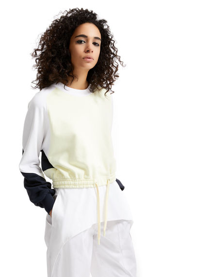 Colour block Cotton Sweatshirt Sportmax
