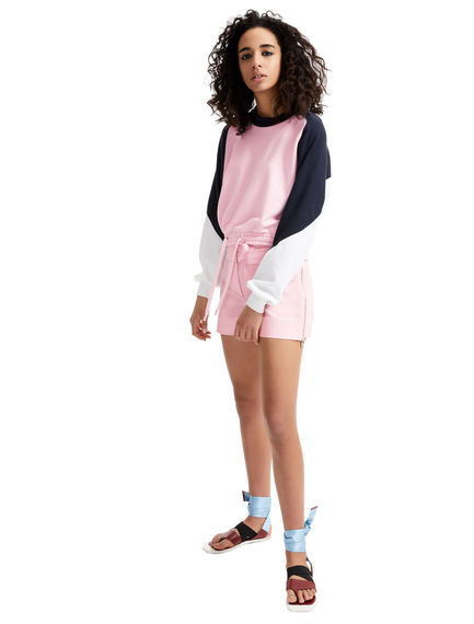 Colour block Cotton Sweatshirt