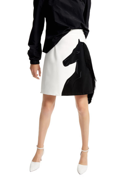 Graphic Horse Mini Skirt Sportmax