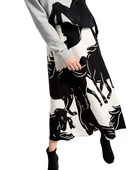 Running Horse Wrap Skirt Sportmax