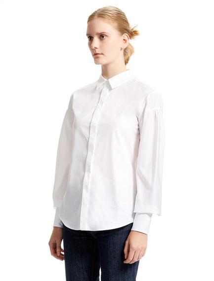 Pleat-sleeve Tailored Shirt