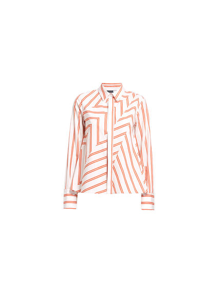 Chevron Poplin Shirt-Jacket