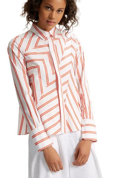 Camicia in popeline di cotone motivo chevron Sportmax