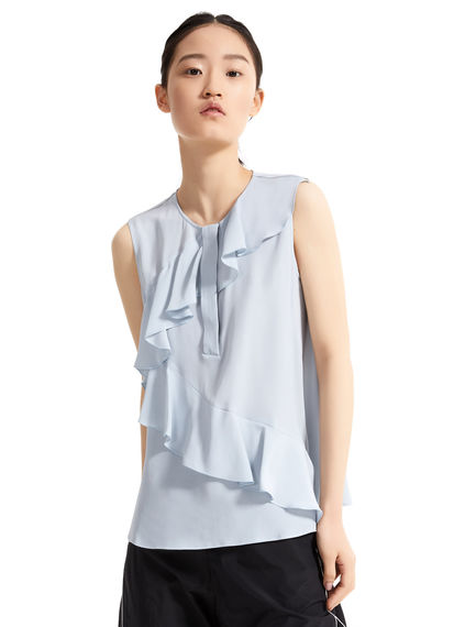 Rippled Silk Shell Top Sportmax