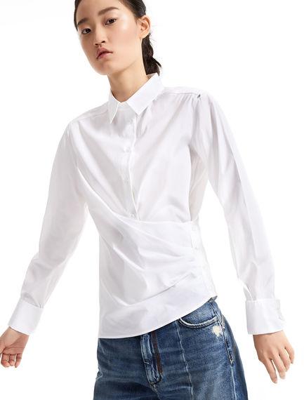 Asymmetrical Poplin Shirt Sportmax