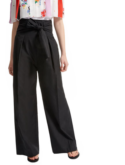 High-waist Poplin Trousers Sportmax