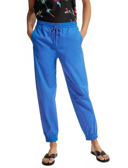 Pantaloni jogging in popeline di cotone Sportmax