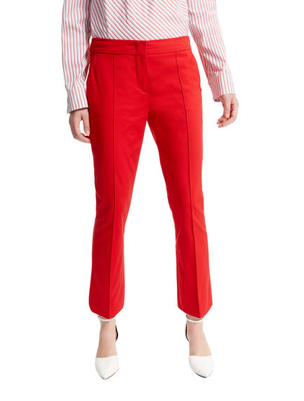 Cropped Stretch Cotton Trousers Sportmax