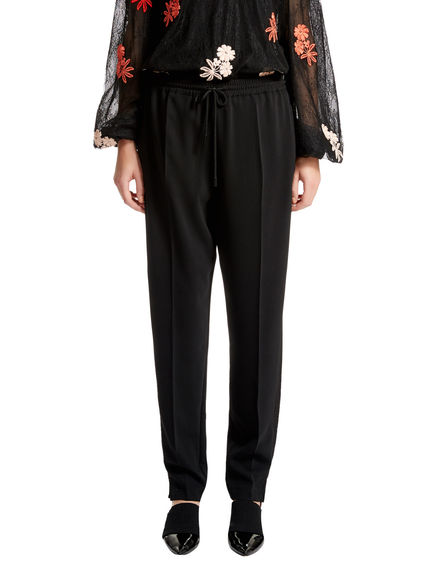 Drawcord-waist Jogging Trousers