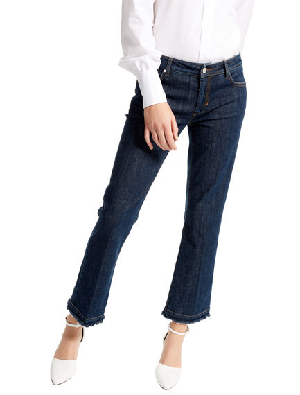 Frayed Edge Cropped Jeans Sportmax