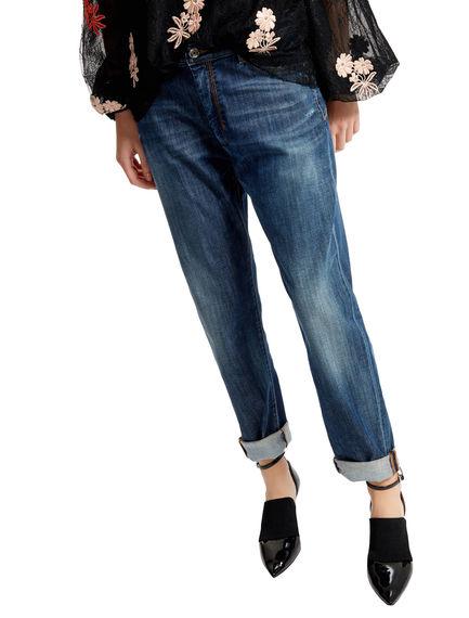Dark Blue Boyfriend Jeans Sportmax