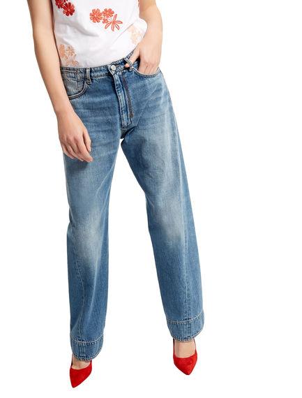 Curved Seam Boyfriend Jeans Sportmax