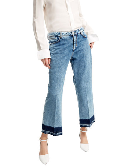 Cropped & Flared Fade-out Jeans Sportmax