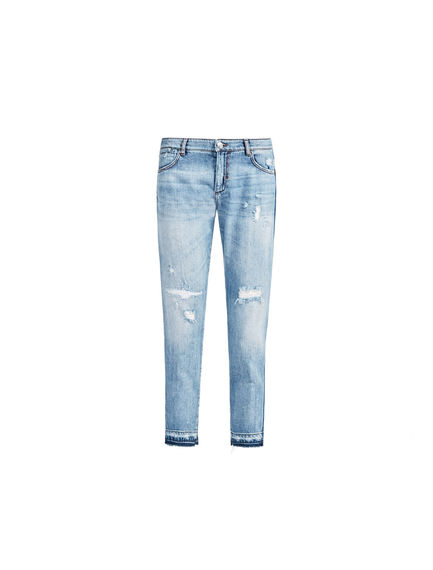 Two-tone Cigarette-fit Jeans
