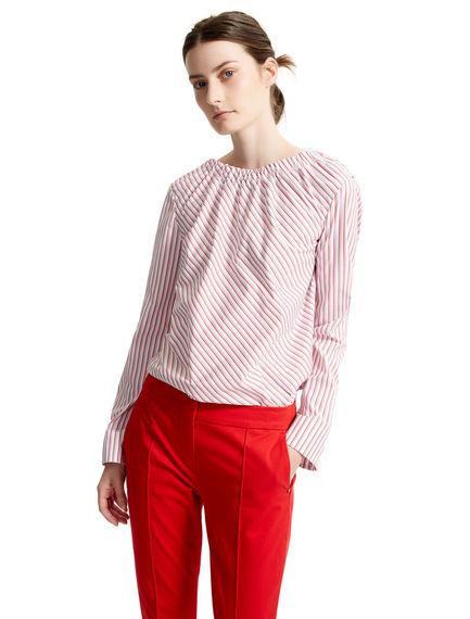 Striped Poplin Drop-back Blouse Sportmax