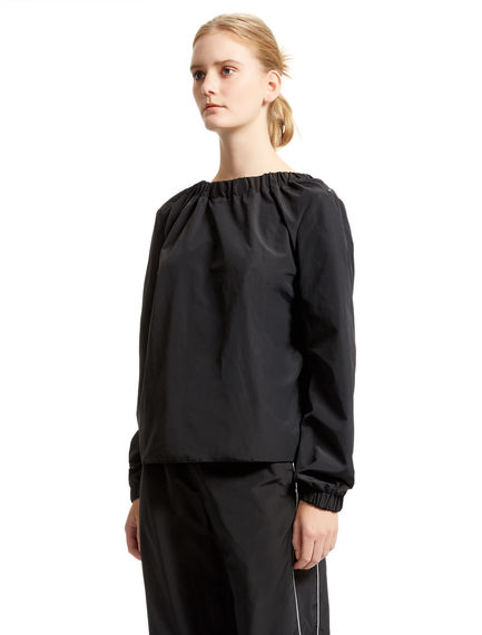 Black Drop-back Blouse