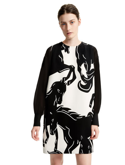 Running Horses Tunic Dress Sportmax