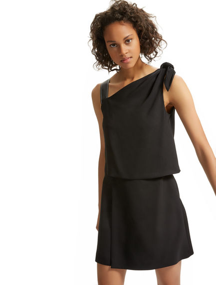Asymmetric Knotted Mini Dress Sportmax