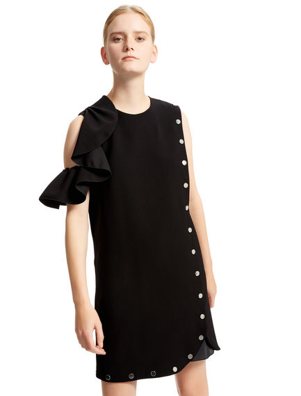 Asymmetric Stud & Ruffle Dress Sportmax