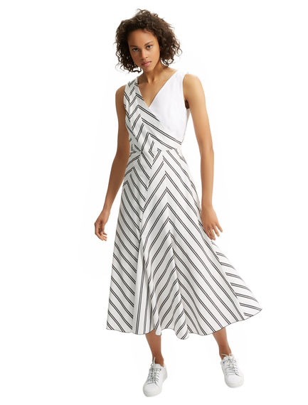 Chevron Poplin Dress Sportmax