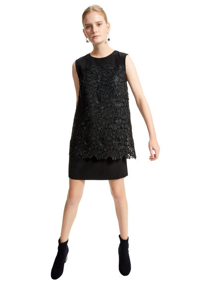 Layered Lace Shift Dress Sportmax