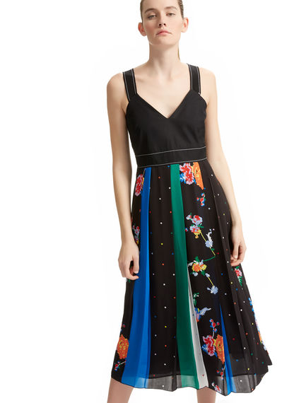 Multi Print Georgette Dress Sportmax