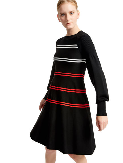 Striped A-line Knitted Dress Sportmax