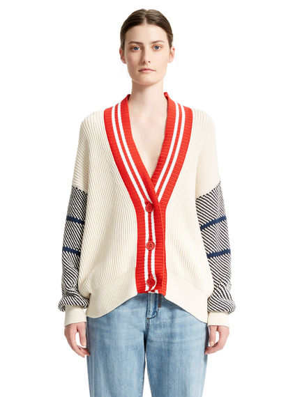 Ribbed College Cardigan