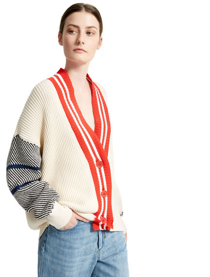 Ribbed College Cardigan Sportmax