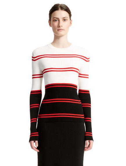 Colour Block Striped Sweater