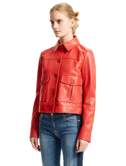 Red Nappa Leather Jacket