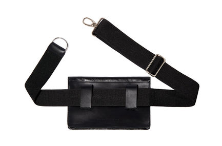 Laminated Leather Fanny Pack