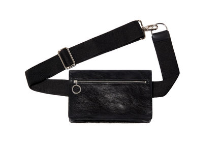 Laminated Leather Fanny Pack Sportmax