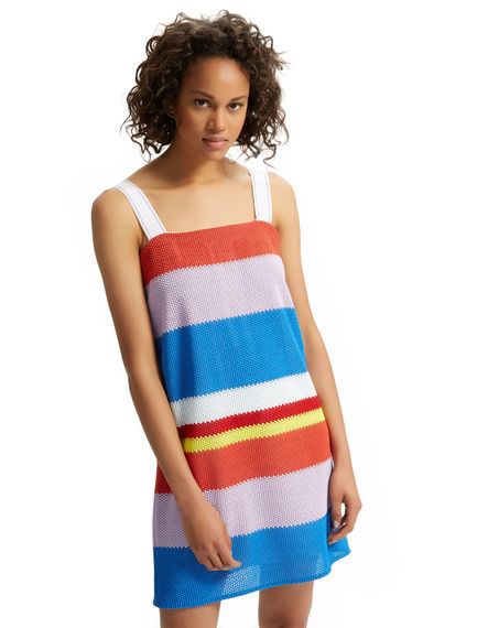 Macramé Lace Striped Dress Sportmax