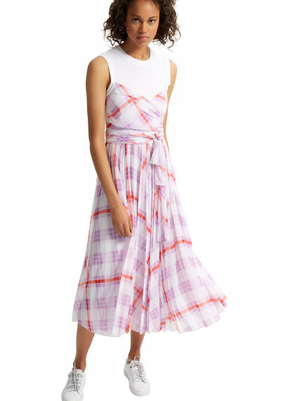 Optical Layered Chequered Dress Sportmax