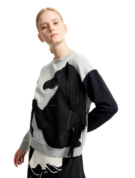 Rearing Horse Sweatshirt Sportmax