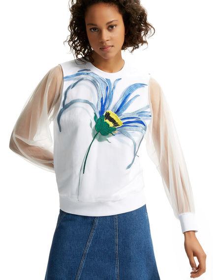 Transparent Sleeve Daisy Sweatshirt Sportmax
