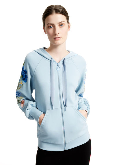 Embroidered Sleeve Hooded Top Sportmax