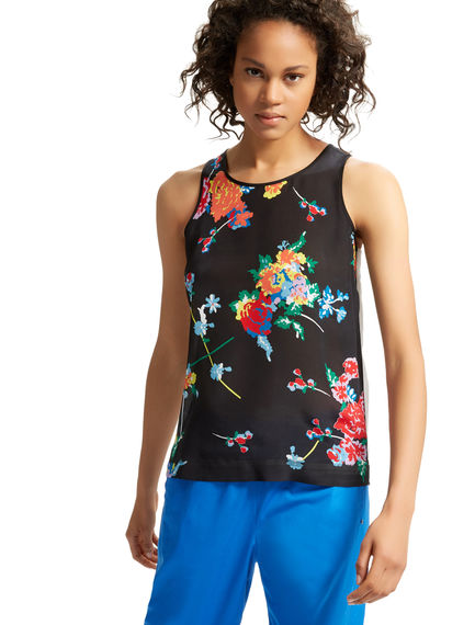 Silk & Jersey Flower Vest Sportmax