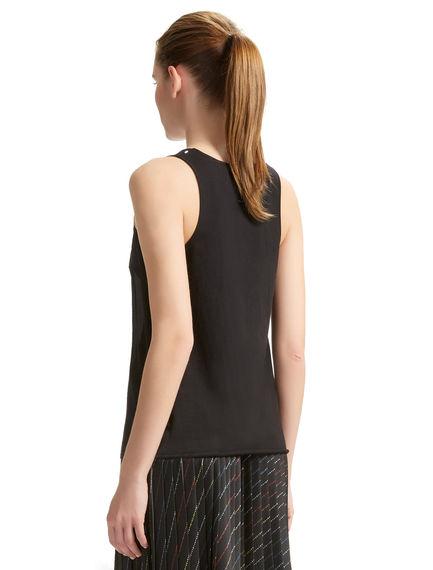 Silk & Jersey Vest